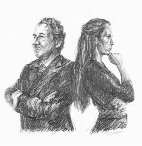 Double portrait  Jean Pierre Rawie and Elisa Pesapane