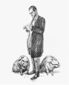 Contemporary Nymphs: Nymph with piggybanks (Hedendaagse Nimfen: 'Nimf met spaarvarkens')