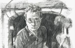 2020 EP Portret detail: The Lithographer, portrait of Jeroen Hermkens in his studio