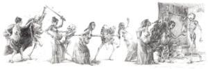 'Danse Macabre' III , triptych