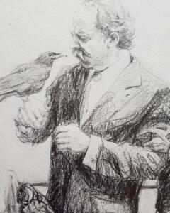 detail: Triple portrait L.H. Wiener 75 years