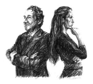 Portrait Jean Pierre Rawie & Elisa Pesapane, 40x30 cm, 2017