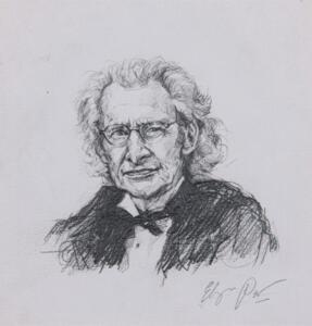 2021 EP Portret Harry Mulisch 30x20 cm