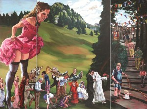 'The journey', triptych